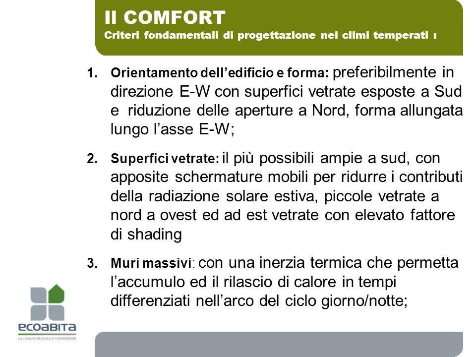 Criteri fondamentali di progettazione nei climi temperati :