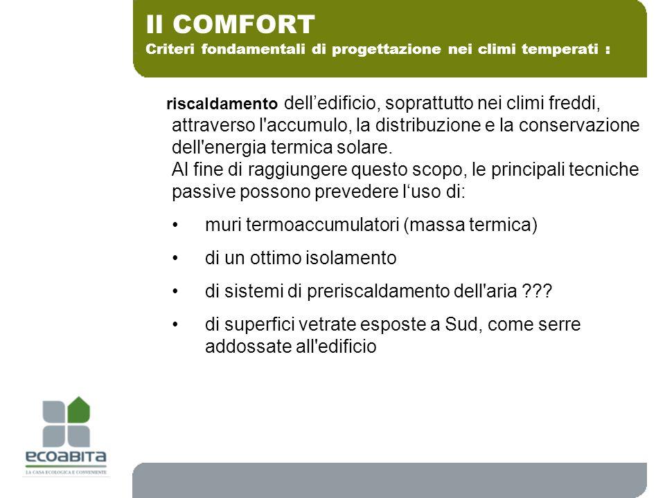 Il COMFORT muri termoaccumulatori (massa termica)