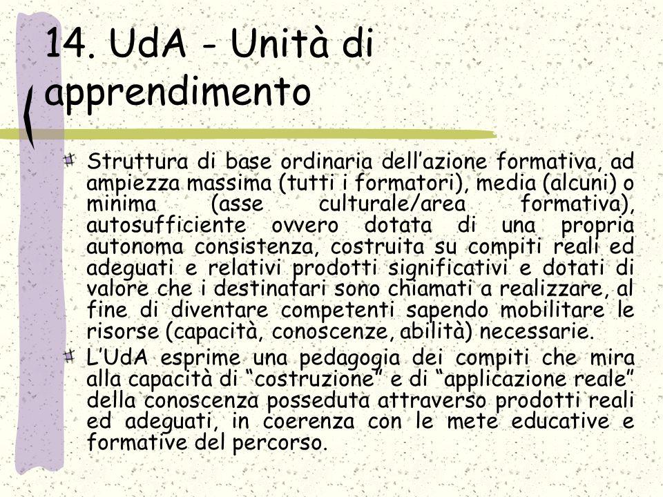 14. UdA - Unità di apprendimento