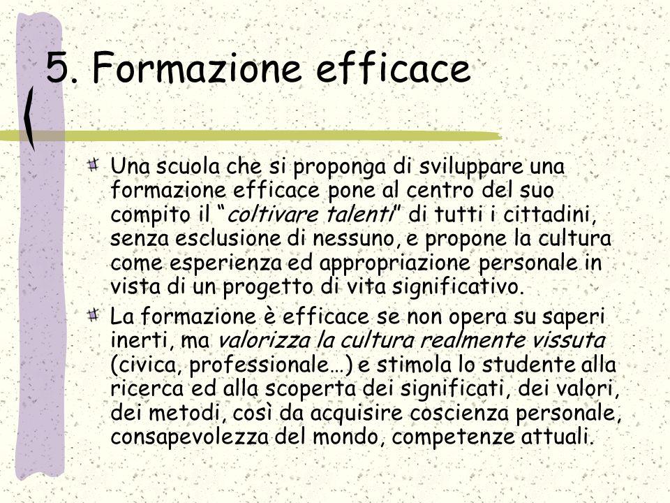 5. Formazione efficace