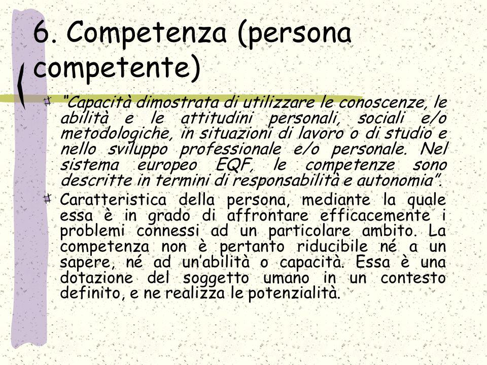 6. Competenza (persona competente)