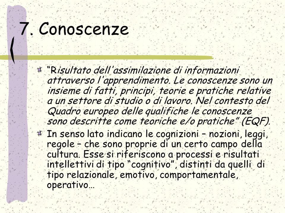 7. Conoscenze