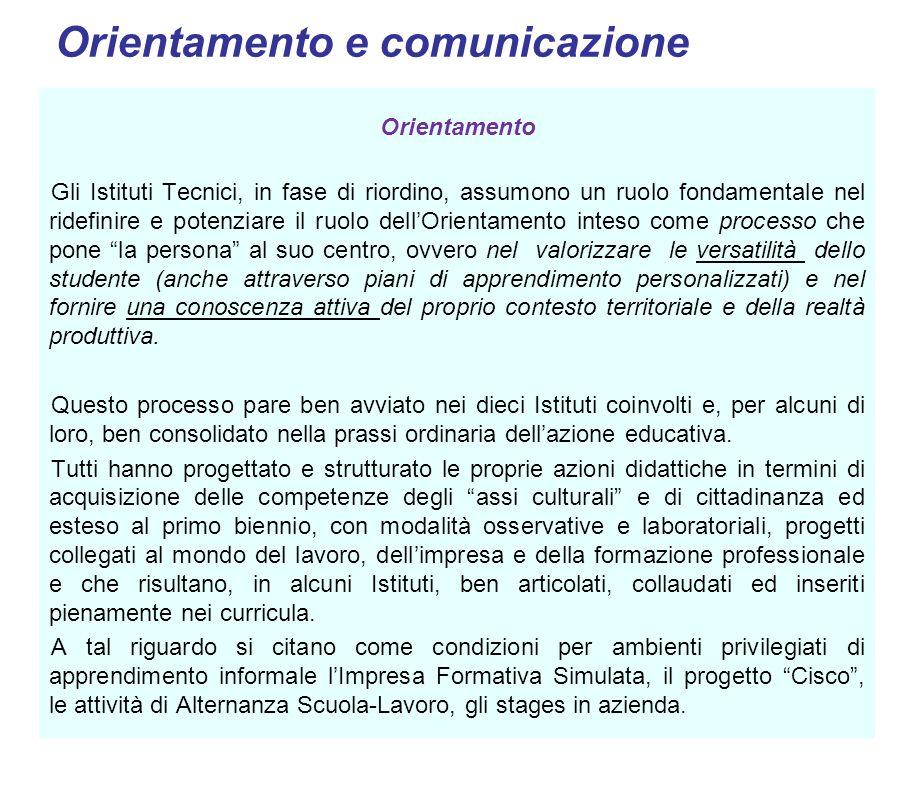 Orientamento e comunicazione