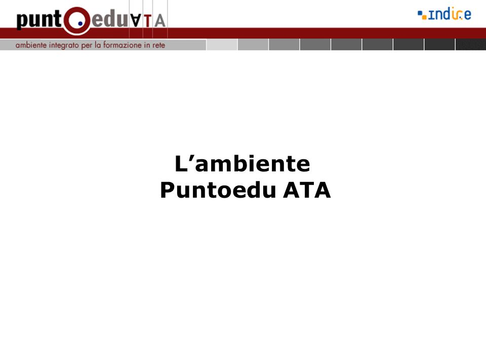 L'ambiente Puntoedu ATA