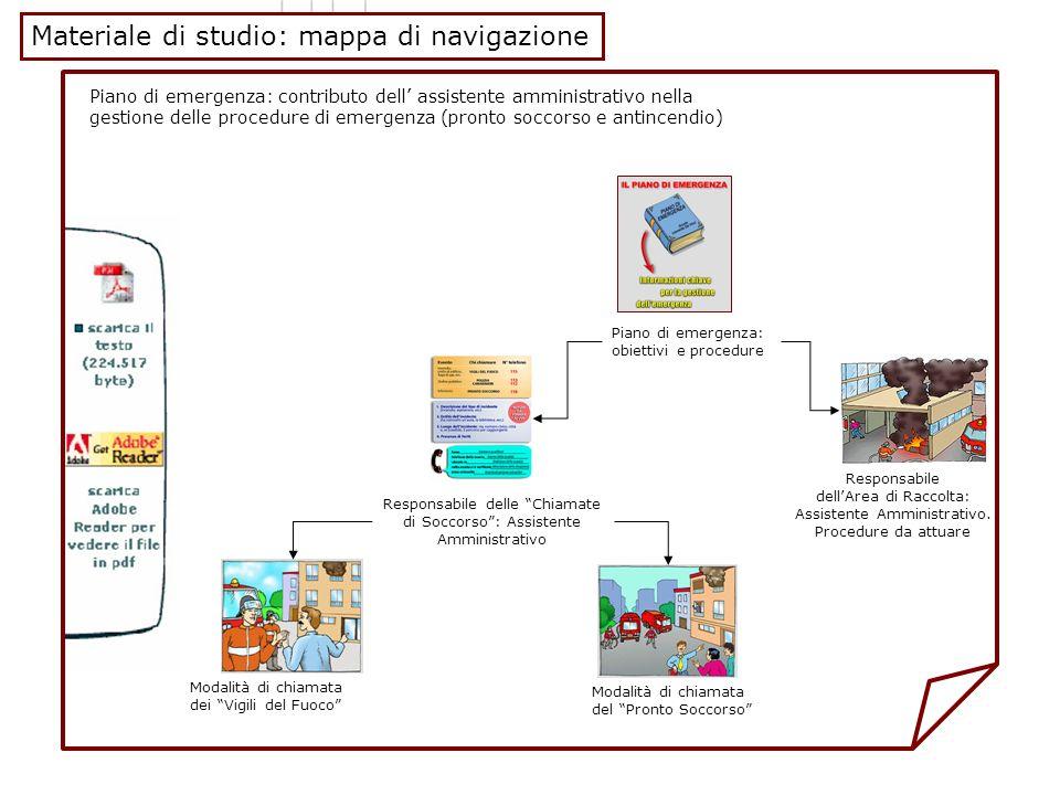 Materiale di studio: mappa di navigazione