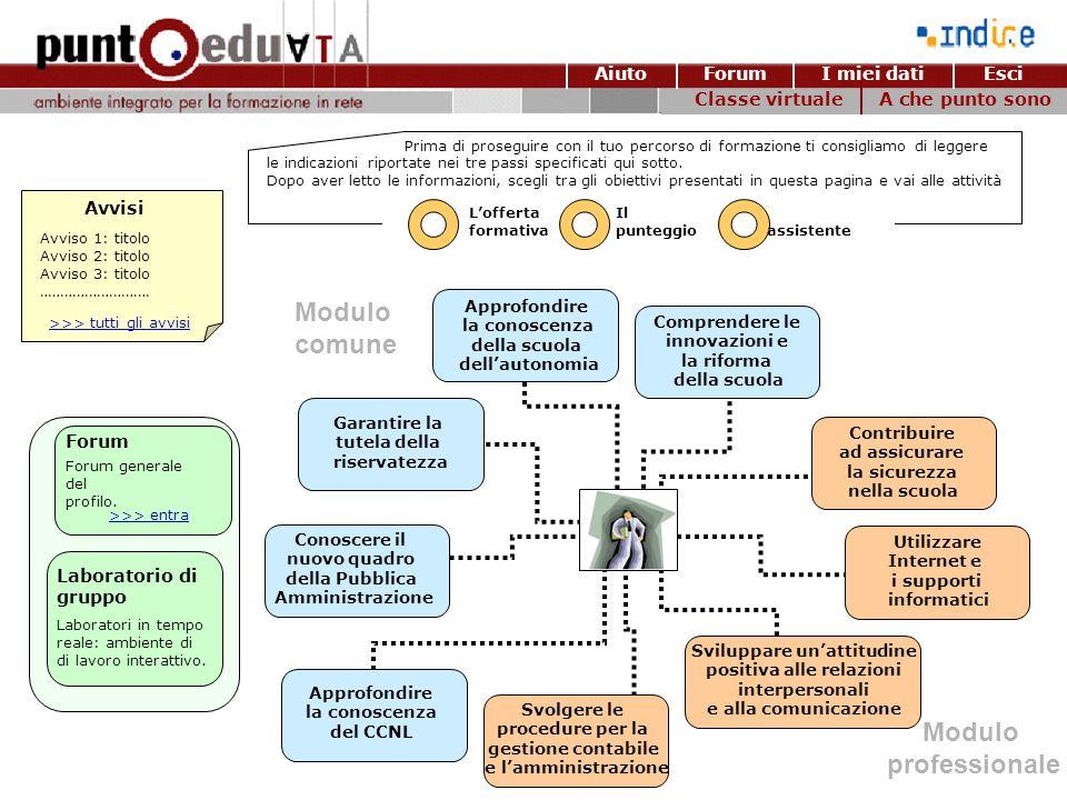 Modulo comune Modulo professionale