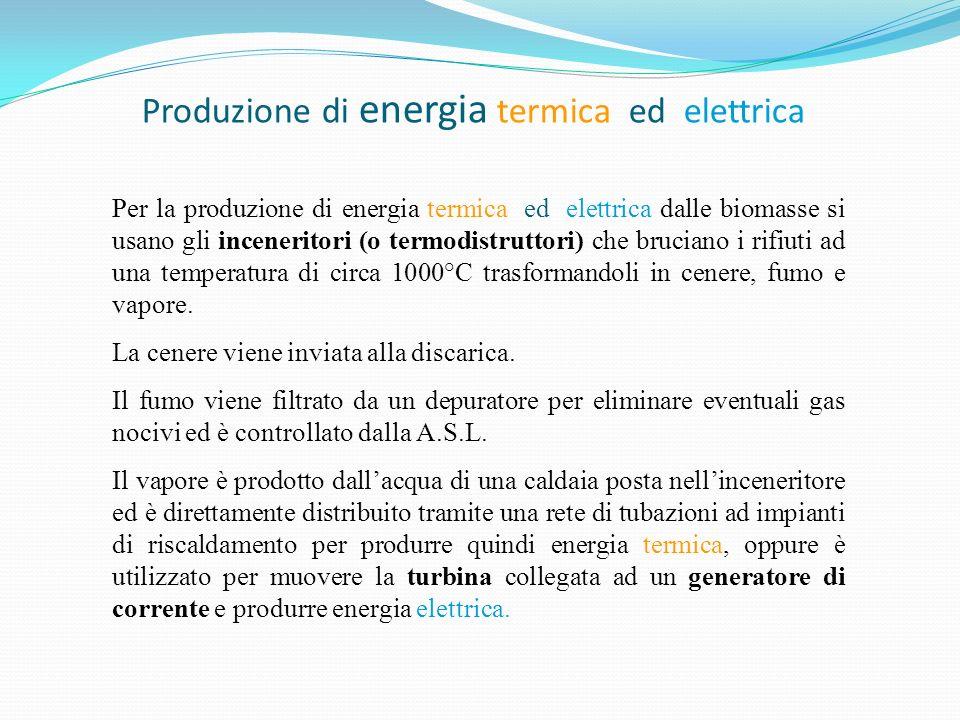 Produzione di energia termica ed elettrica