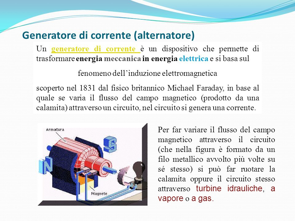 Generatore di corrente (alternatore)
