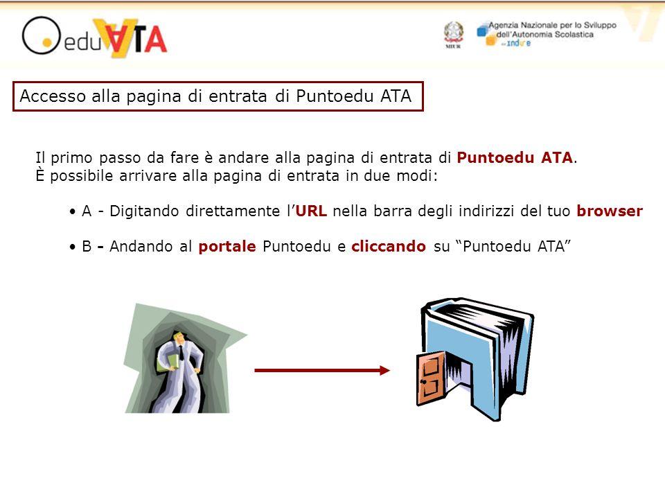 Accesso alla pagina di entrata di Puntoedu ATA