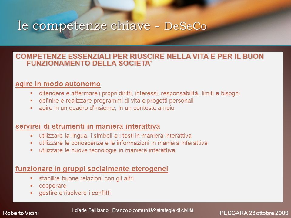 le competenze chiave - DeSeCo