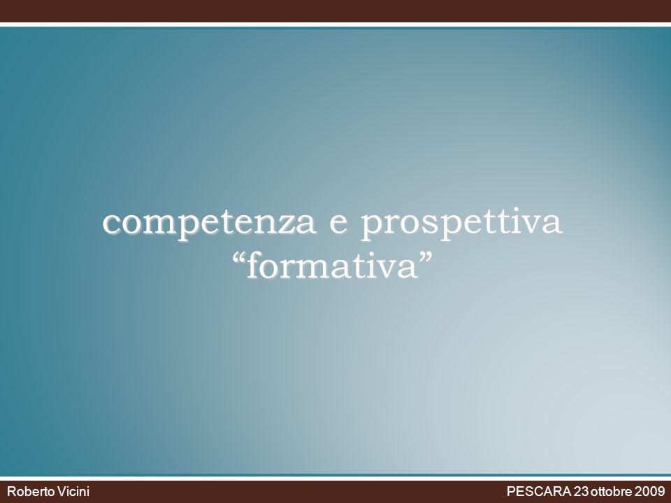 competenza e prospettiva formativa