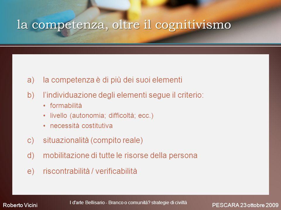 la competenza, oltre il cognitivismo