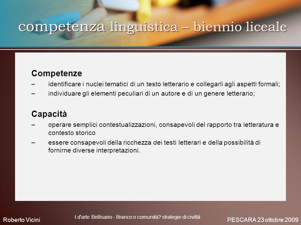 competenza linguistica – biennio liceale