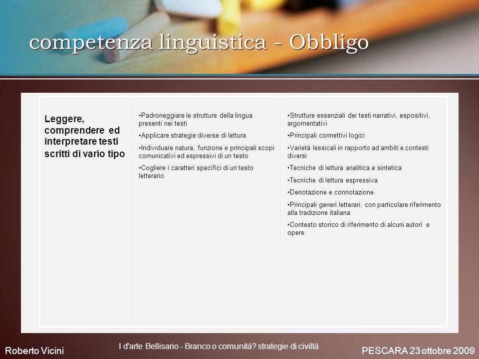 competenza linguistica - Obbligo