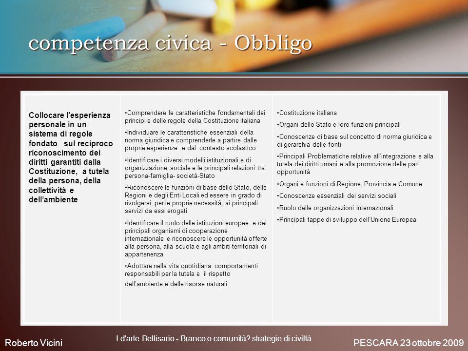 competenza civica - Obbligo
