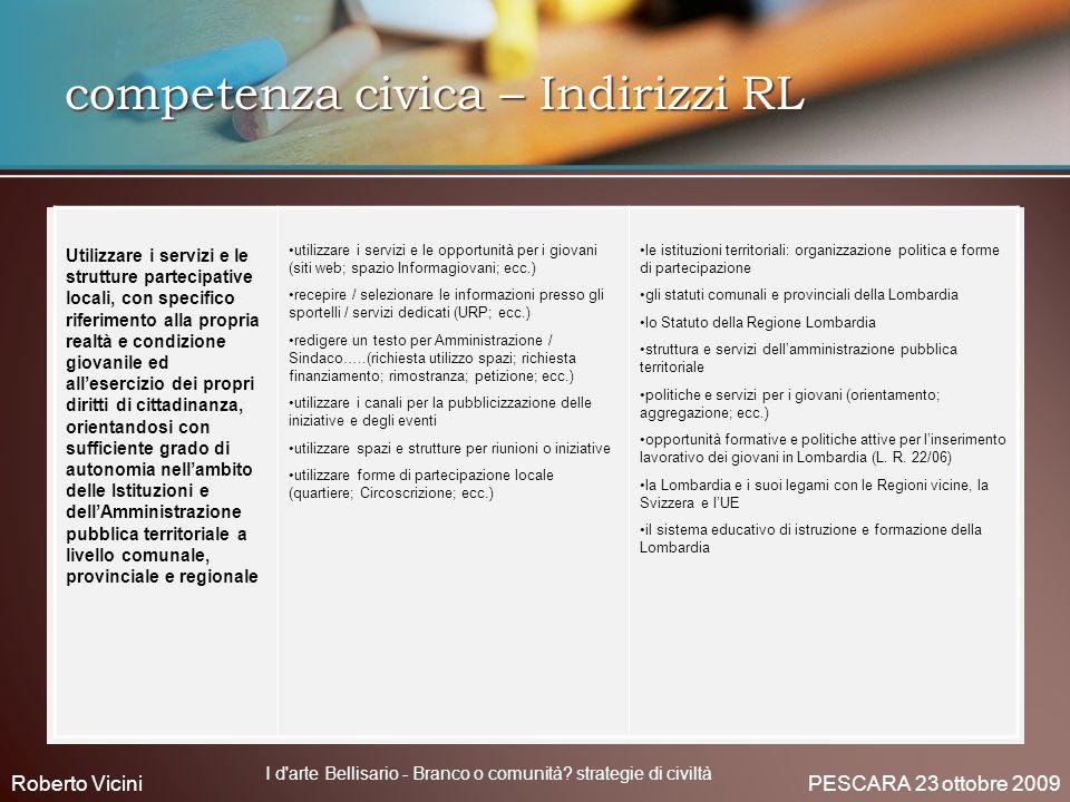 competenza civica – Indirizzi RL