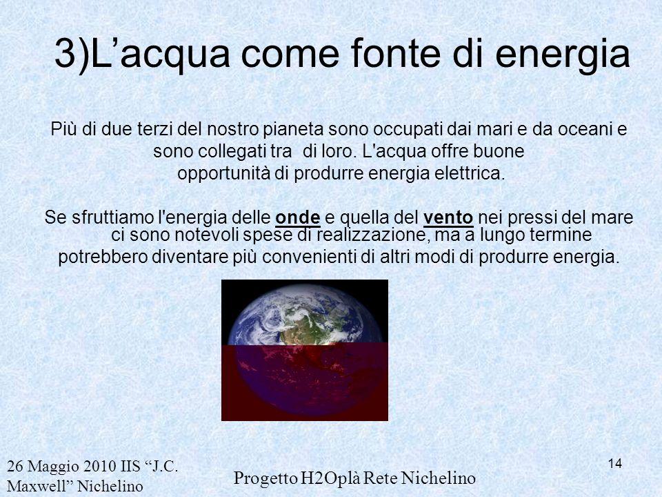 3)L'acqua come fonte di energia