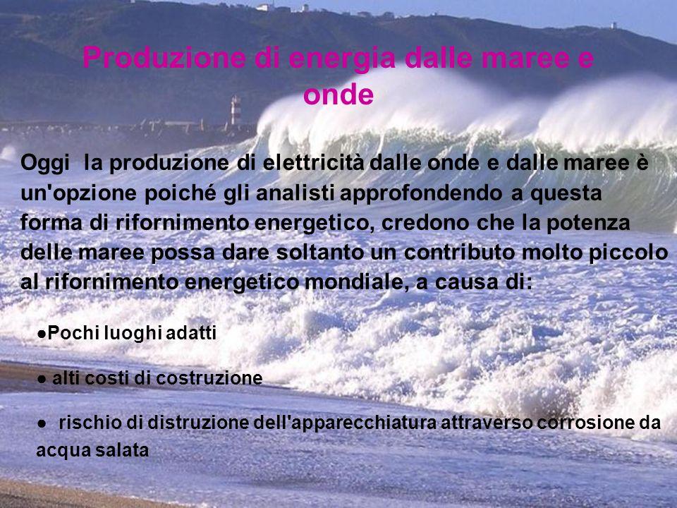 Produzione di energia dalle maree e onde