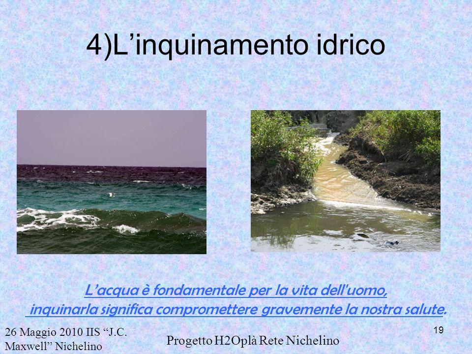 4)L'inquinamento idrico