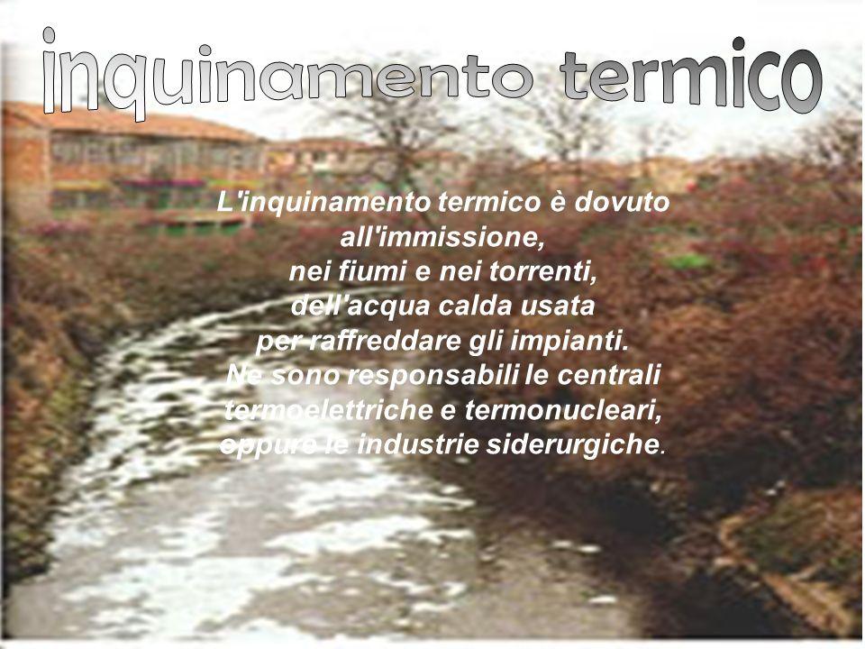 inquinamento termico L inquinamento termico è dovuto all immissione,