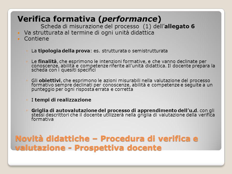 Scheda di misurazione del processo (1) dell'allegato 6
