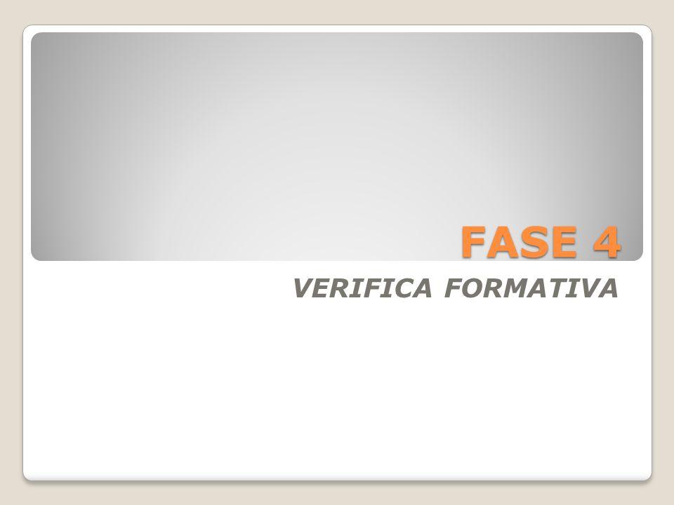 FASE 4 VERIFICA FORMATIVA
