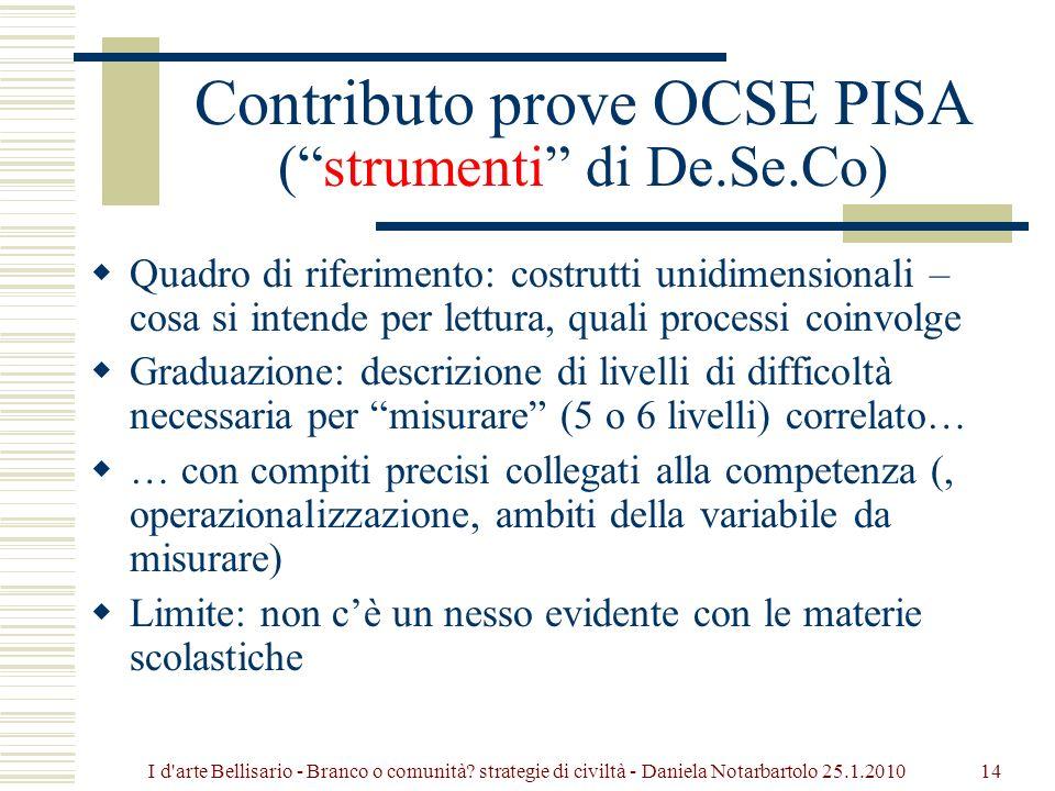Contributo prove OCSE PISA ( strumenti di De.Se.Co)