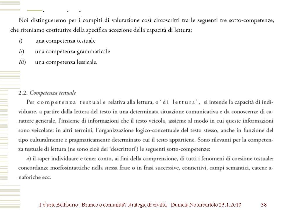 I d arte Bellisario - Branco o comunità