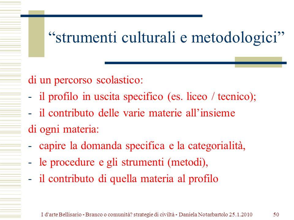 strumenti culturali e metodologici