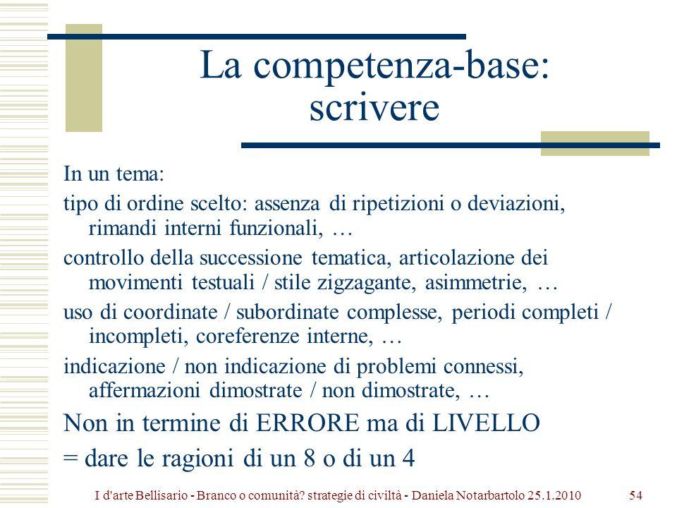 La competenza-base: scrivere