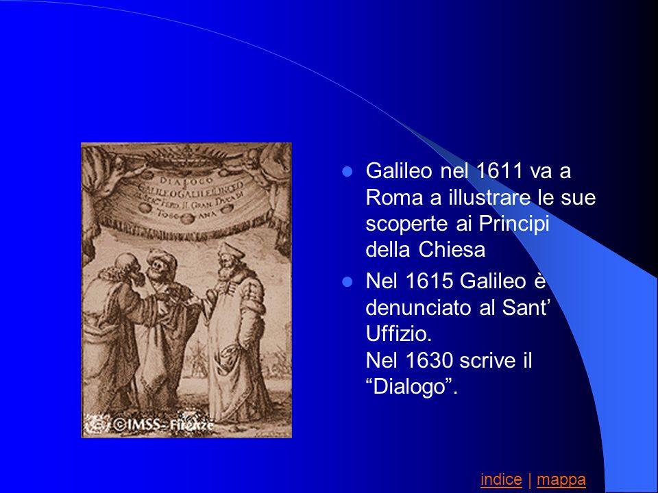 Galileo nel 1611 va a Roma a illustrare le sue scoperte ai Principi della Chiesa