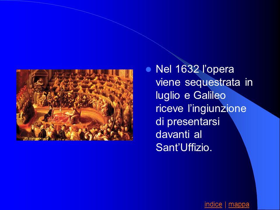 Nel 1632 l'opera viene sequestrata in luglio e Galileo riceve l'ingiunzione di presentarsi davanti al Sant'Uffizio.