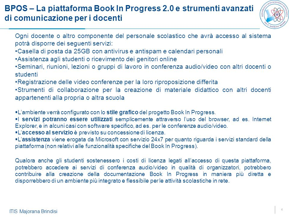 BPOS – La piattaforma Book In Progress 2