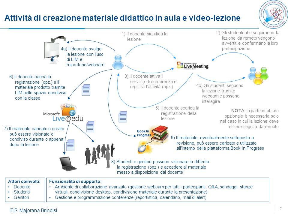 Attività di creazione materiale didattico in aula e video-lezione