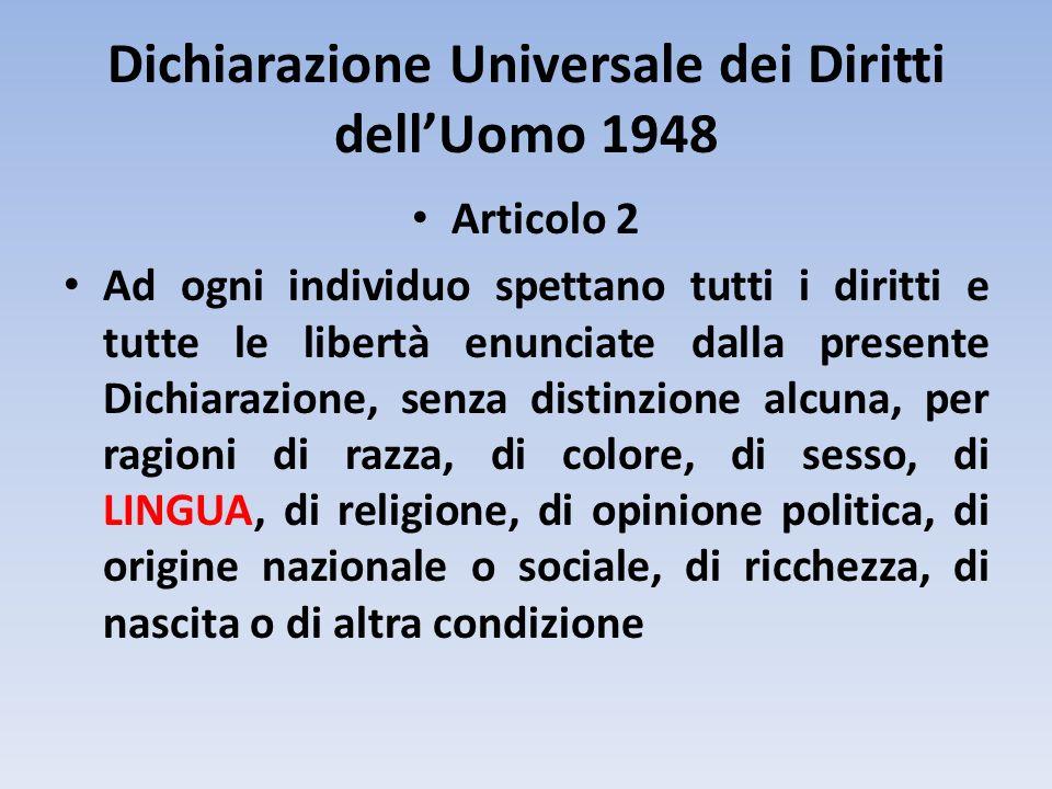 Dichiarazione Universale dei Diritti dell'Uomo 1948