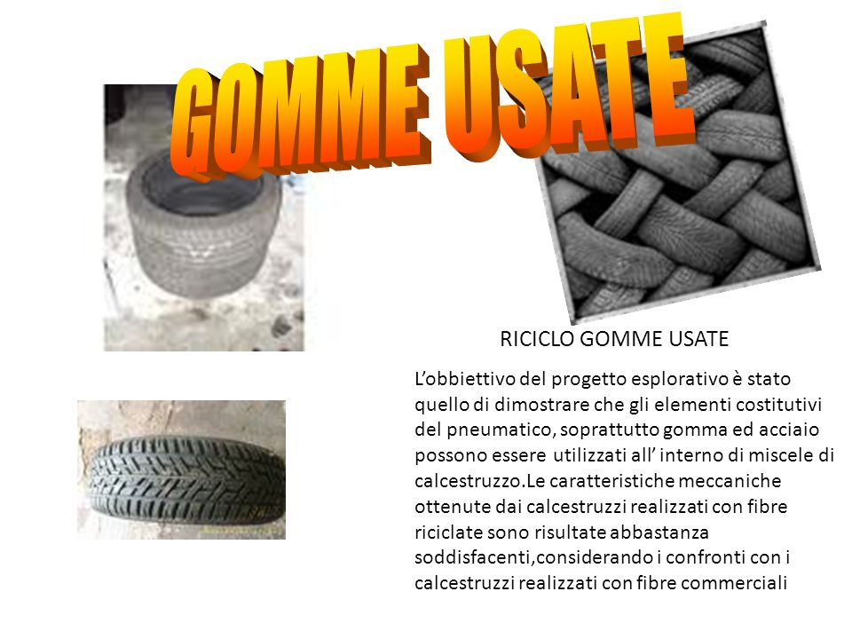 GOMME USATE RICICLO GOMME USATE