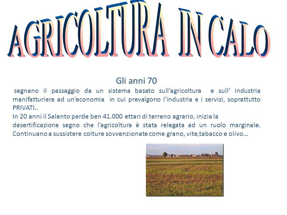 AGRICOLTURA IN CALO Gli anni 70