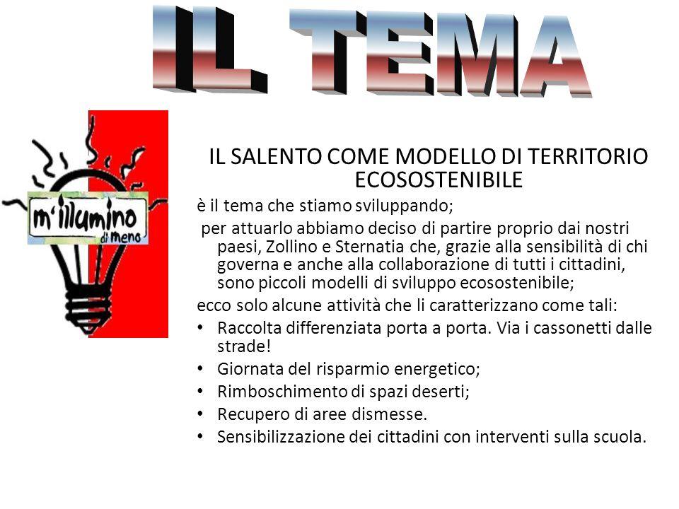 IL SALENTO COME MODELLO DI TERRITORIO ECOSOSTENIBILE