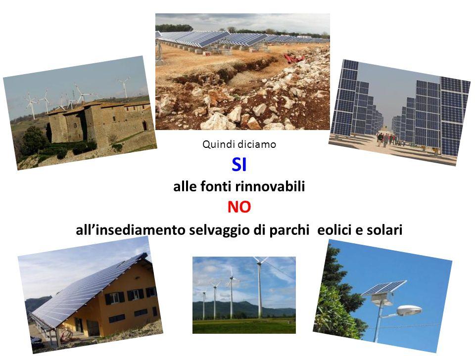SI NO alle fonti rinnovabili
