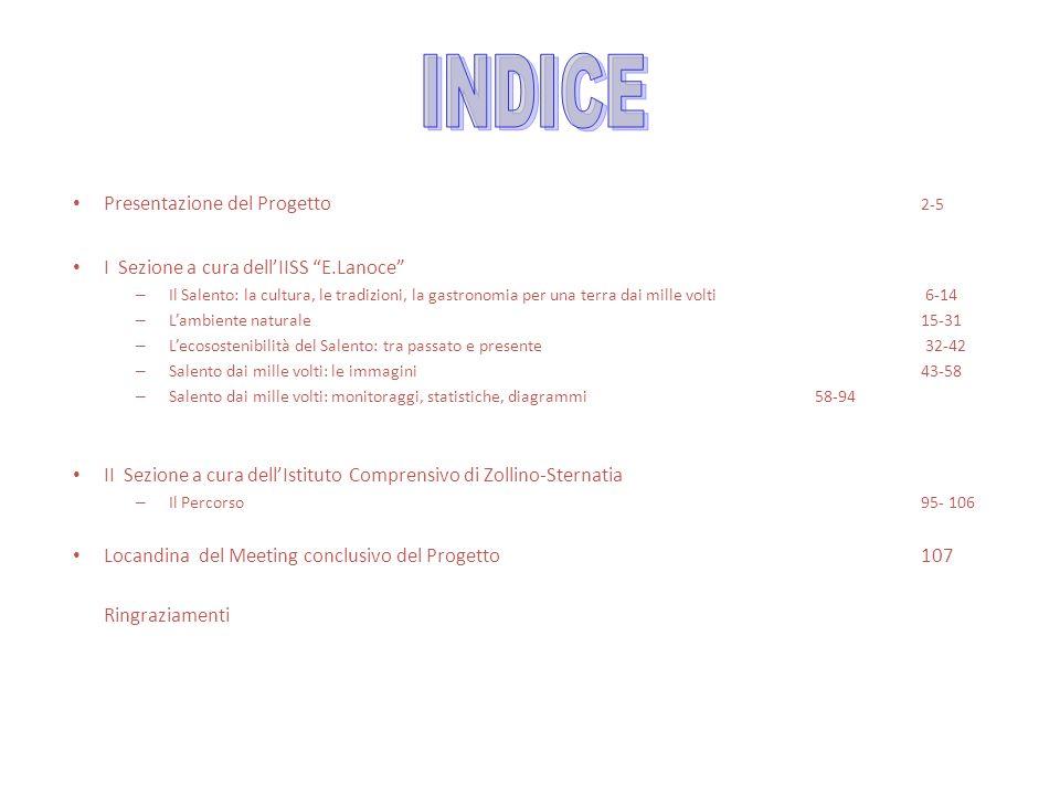 INDICE Presentazione del Progetto 2-5