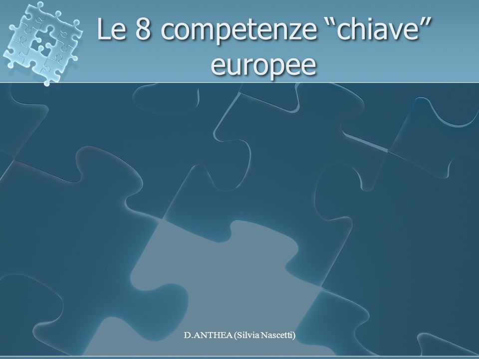 Le 8 competenze chiave europee