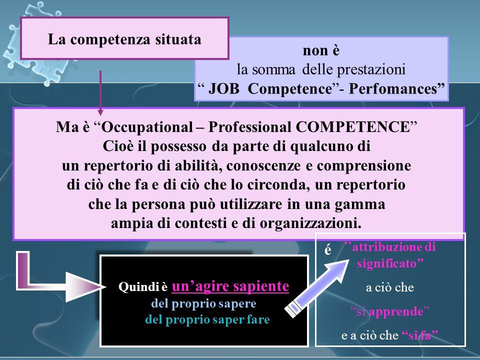 la somma delle prestazioni JOB Competence - Perfomances
