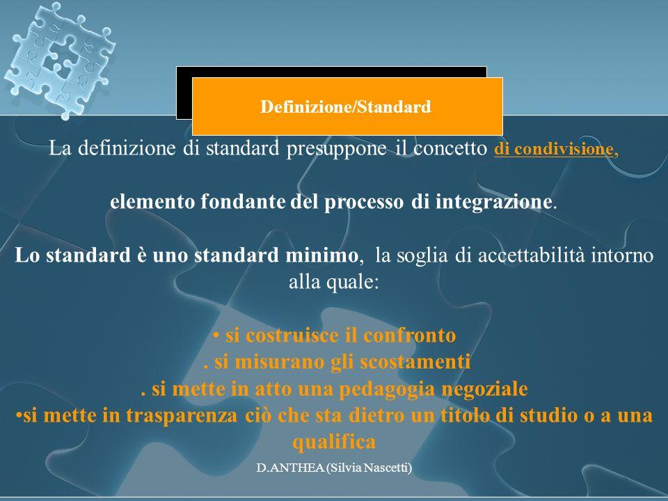 La definizione di standard presuppone il concetto di condivisione,