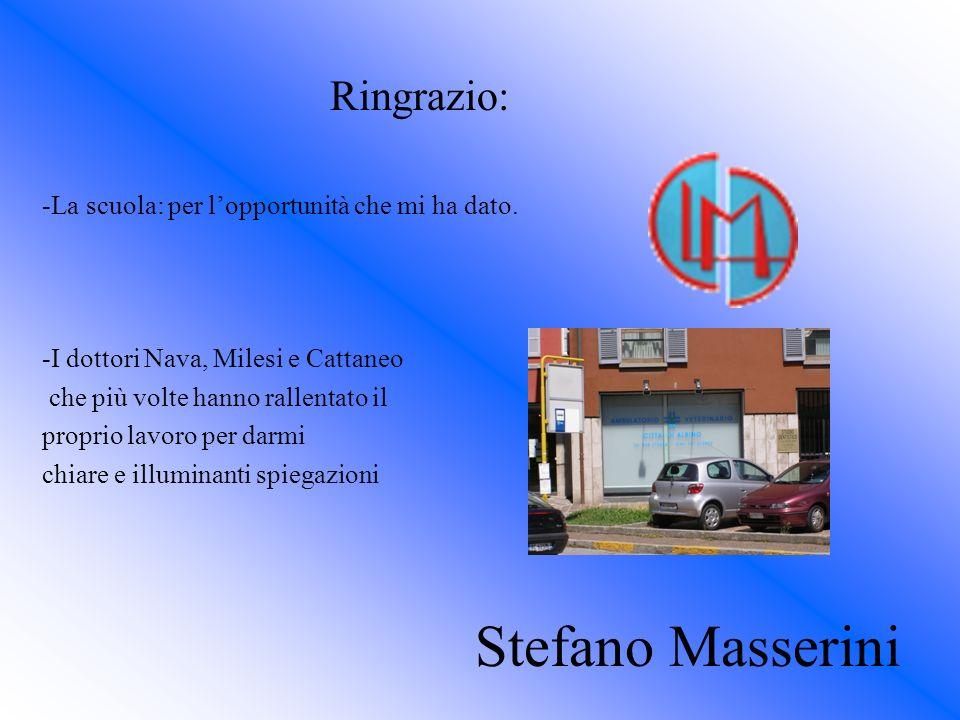 Stefano Masserini Ringrazio: