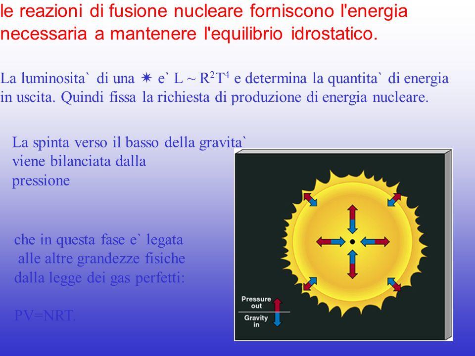 le reazioni di fusione nucleare forniscono l energia