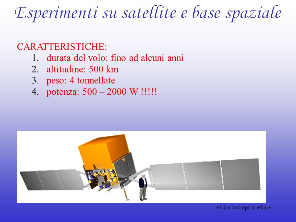 Esperimenti su satellite e base spaziale