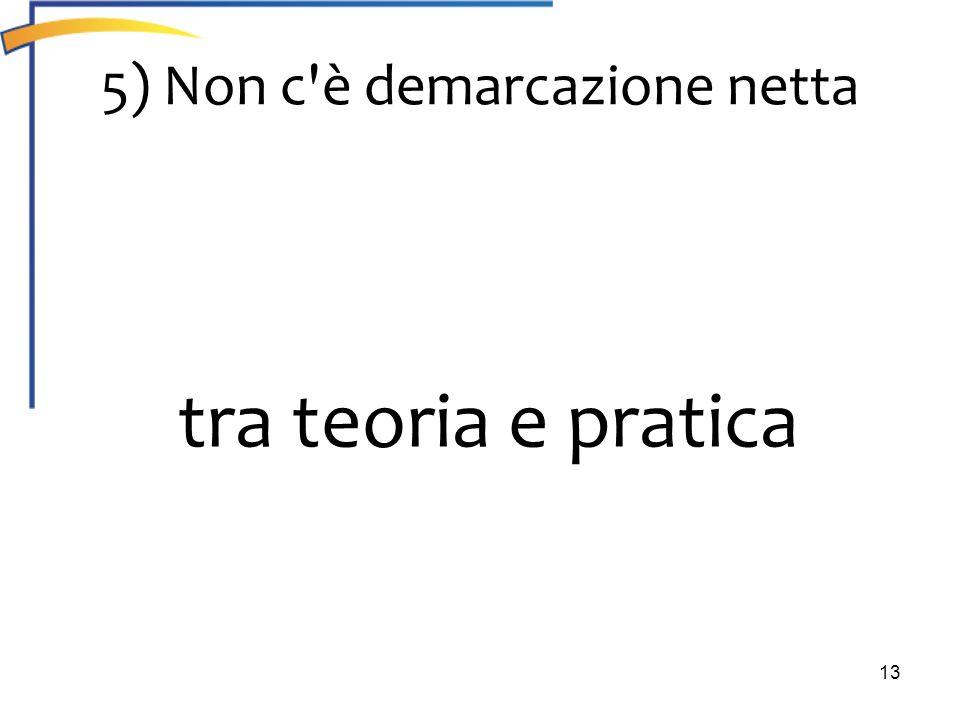 5) Non c è demarcazione netta