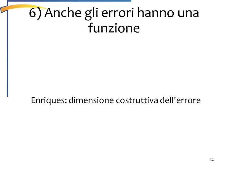 6) Anche gli errori hanno una funzione