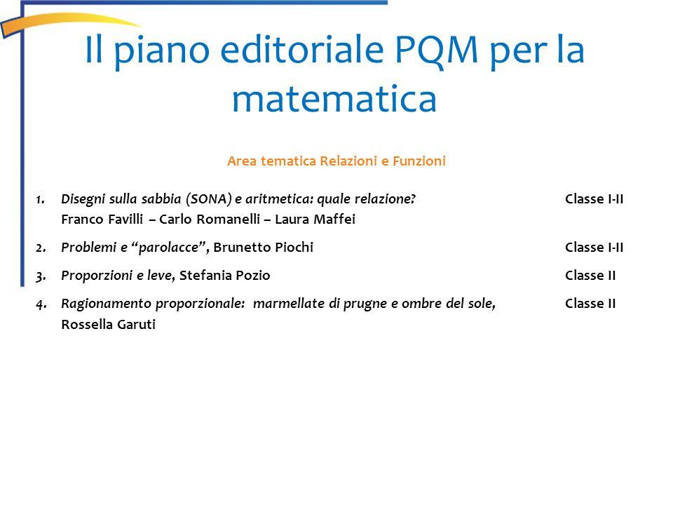 Il piano editoriale PQM per la matematica