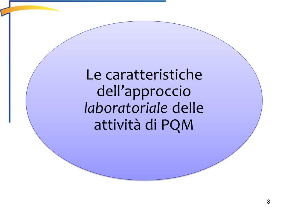 dell'approccio laboratoriale delle attività di PQM